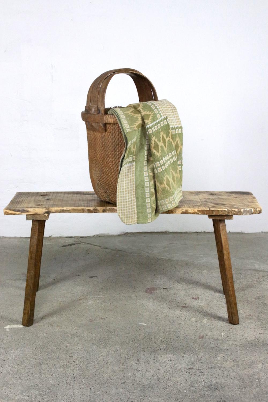 Bauernbank Tisch aus altem Holz, 119 cm
