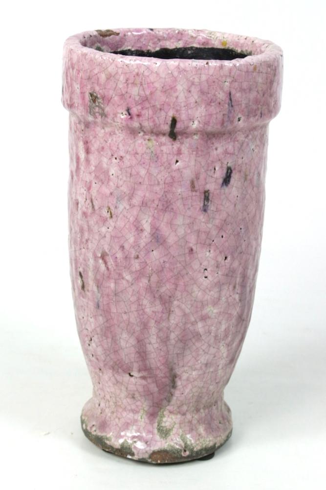 Hoher Blumentopf rosa 25xø12