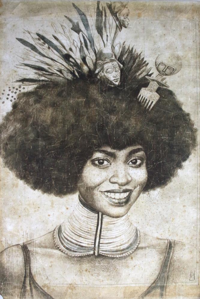 Wandbild 'Äthiopierin' 120x90