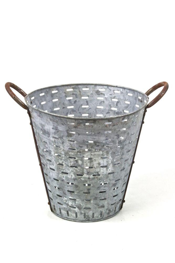Erntekorb aus Metall, 34xø36