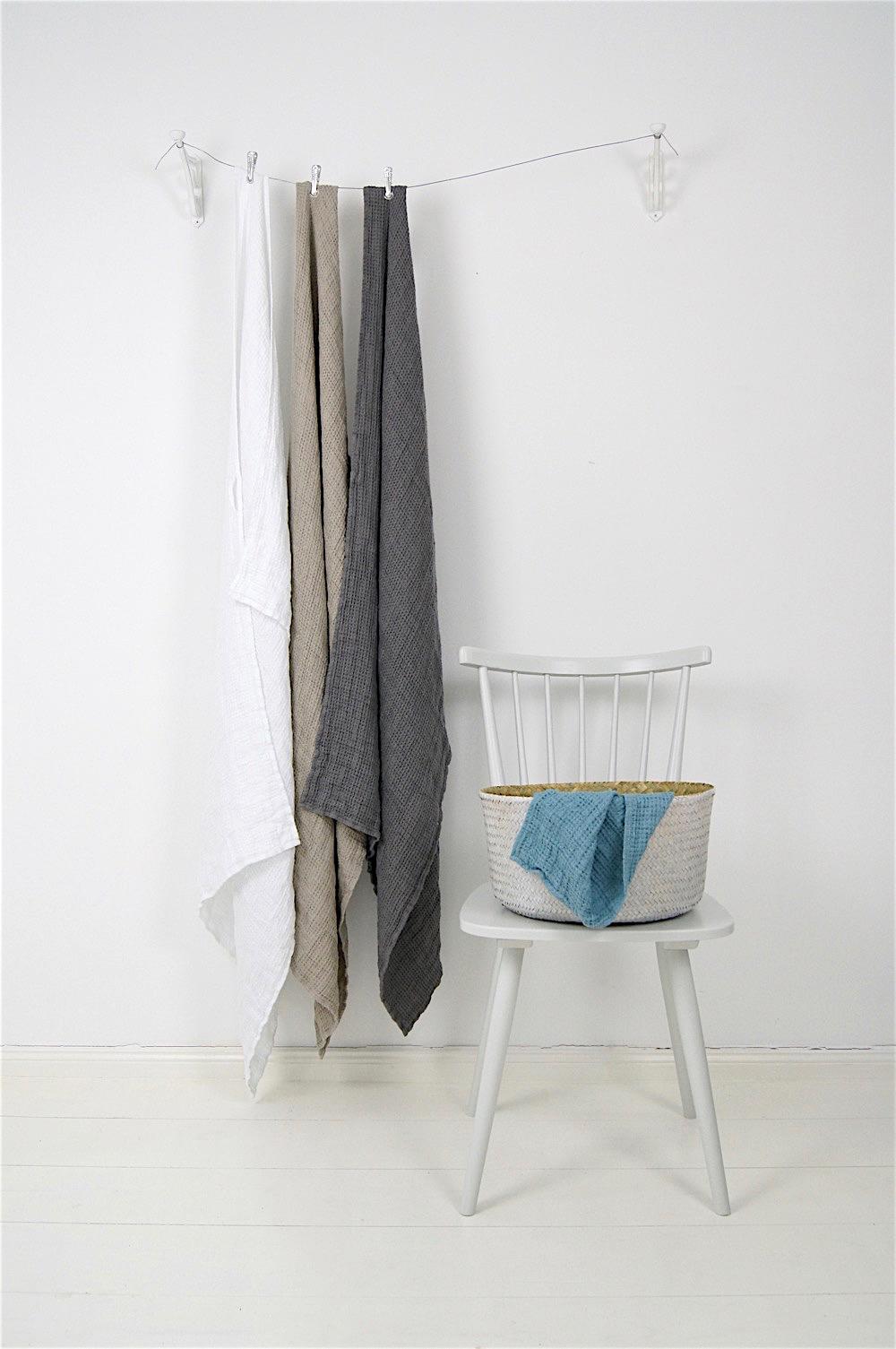 Handtuch mit Waffelmuster, weiß, 130x75