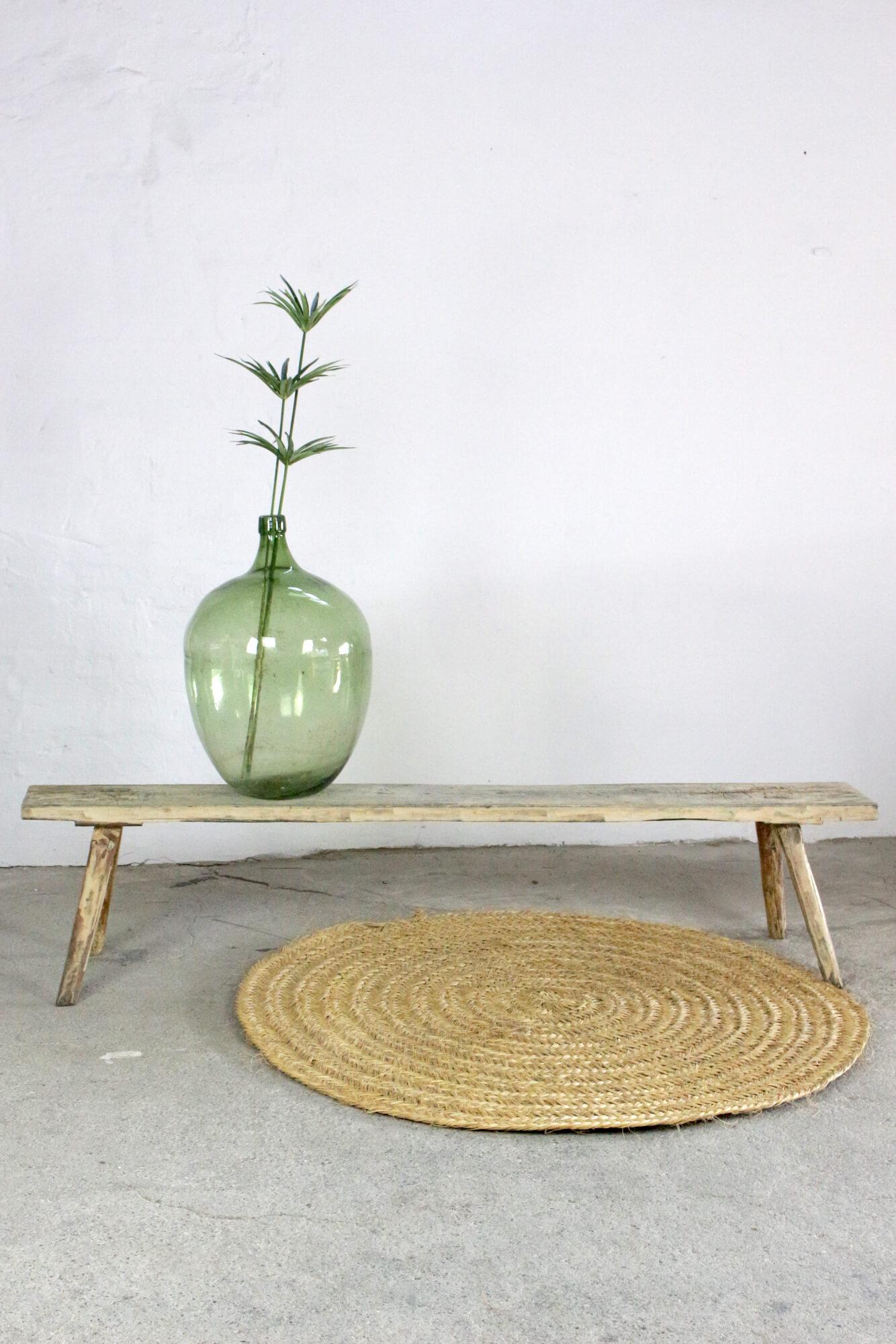 Antike Holzbank Wabi Sabi, 200 cm