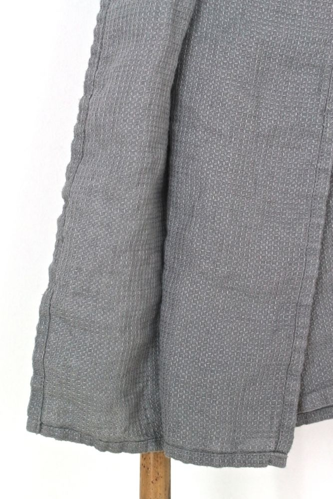 Großes  Handtuch Waffelleinen, grau