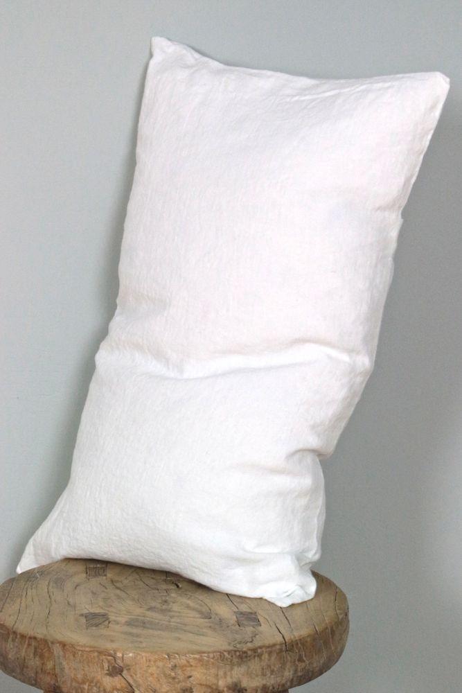 Leinenkissen weiß ecru, 30x50