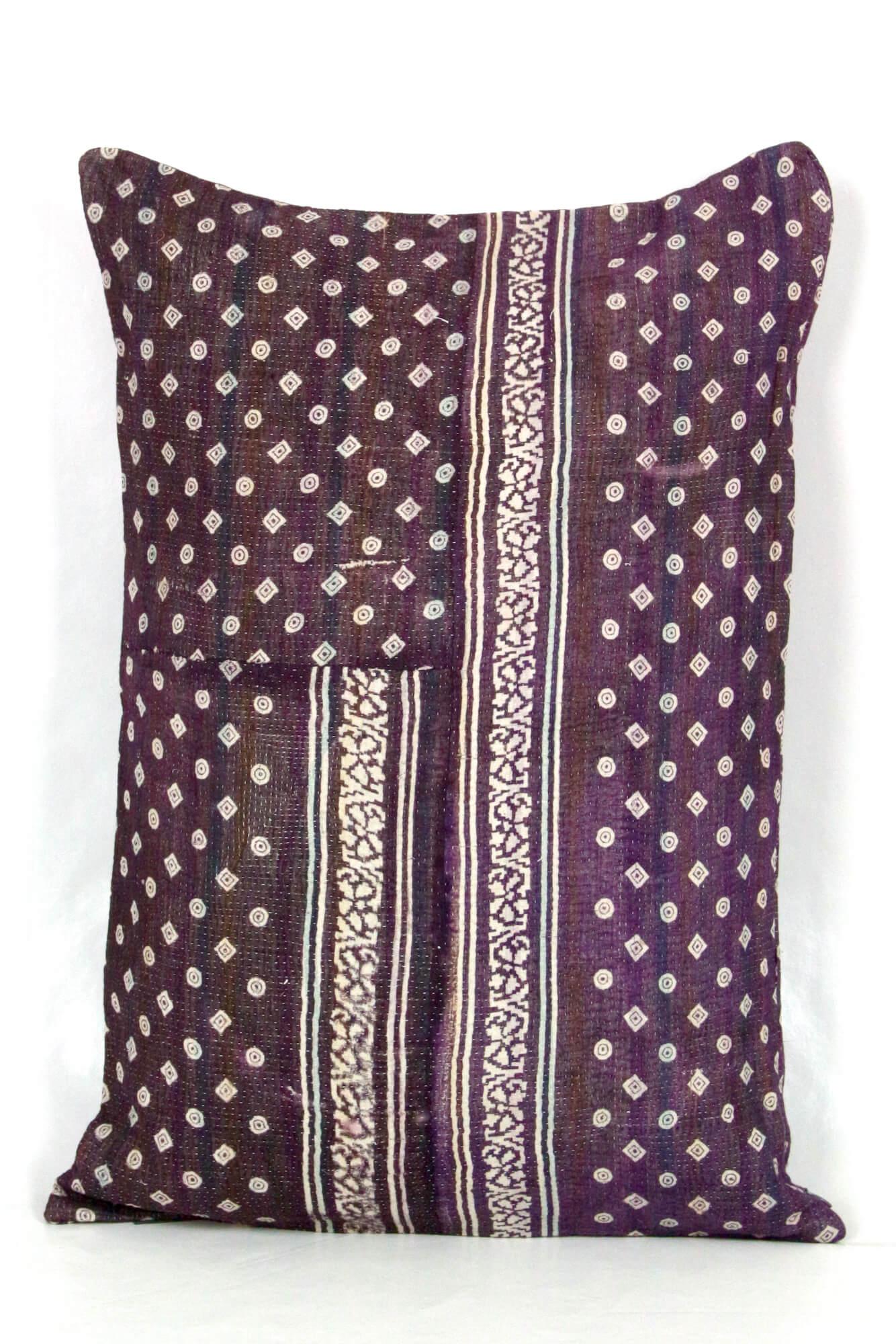 Baumwollkissen aus Retrostoff 60er Jahre, Indien 40x60
