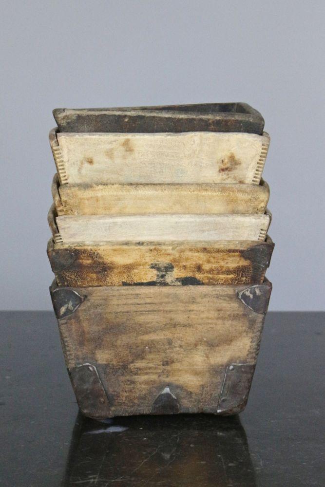 Reisbehälter aus Holz Vintage, 10x16x16