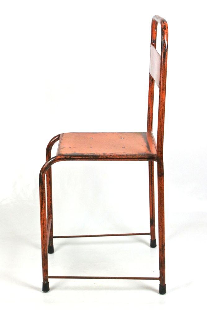 Vintage Eisenstuhl Indonesien Orange